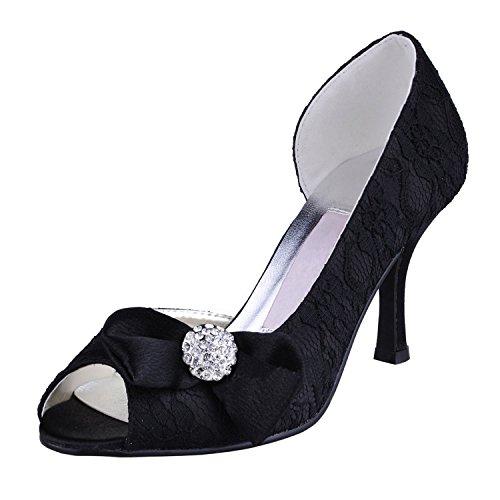 Kevin Fashion , Chaussures de mariage à la mode femme - noir - noir, 43 EU EU