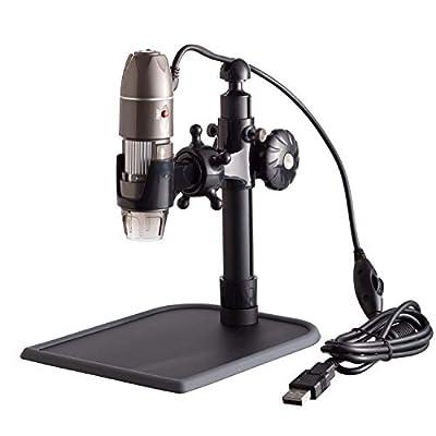 AmScope 5X-500X 2MP Metal Stand 8-LED Zoom Digital USB Microscope Endoscope XP/Vista/7/8 & Mac (Driver Free) Compatible