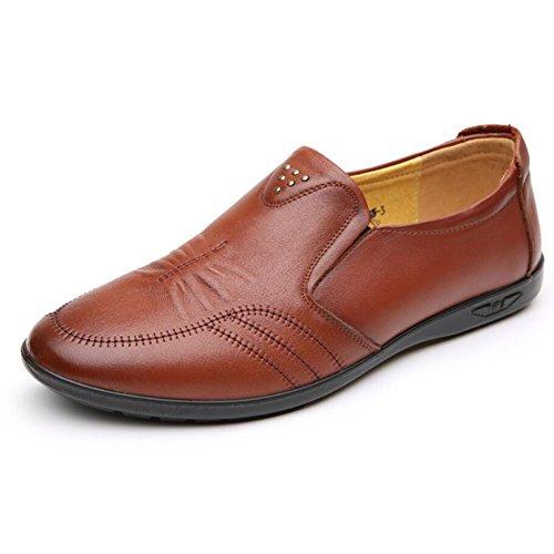 CAI Faule Schuhe der Männer Fall/Winter Neue Mens Schuhe Lederne Erbsen Beschuht Art  und weisseeinzelne Schuhe Lederschuhe beiläufige/gehende Schuhe/fahrende Schuhe (Farbe : Braun  Größe : 40) Braun