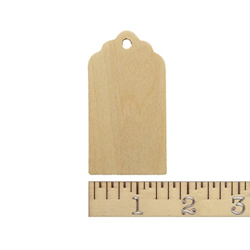 Wooden Gift Tags 3 inch tall, 1-5/8 inch width, 1/8 inch thick. Bag of 25