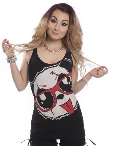 Killer donna Panda Killer Panda Nero Canotta YqxRI5w