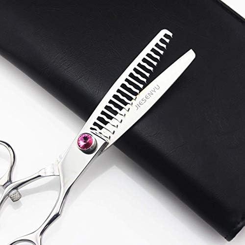 プライヤーツールヘアはさみ– 6.5インチリング180°回転歯の曲線美容はさみ理髪はさみ薄切りはさみ日本のステンレス鋼はさみ