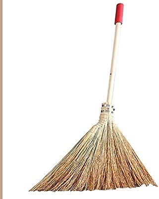 YJFENG-escobas De Paja Barriendo El Jardin Mango Largo De Madera Tradicional Hecho A Mano A Prueba De Polvo Resistente Al Viento Resistente Al Desgaste (Color : Natural, Size : 60x120cm): Amazon.es: Hogar