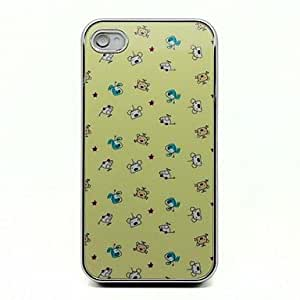 PEACH Cartoon Puppy Pattern Protective Hard Case for iPhone 4/4S