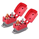 Ampper DC 12V - 24V Automatic Reset Circuit Breaker with Cover Stud Bolt for Automotive and More (40A, 2Pcs)