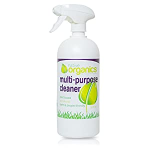 Multi Purpose Cleaner by Native Organics- Non-toxic, Plant-Based, All-Natural, 32 ounce bottle, Fresh Grapefruit Scent, Child & Pet safe home cleaning product (1)