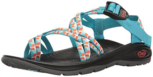 Chaco Women's Zvolv X2 Athletic Sandal, Prism Cyan, 9 M US by Chaco