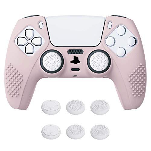funda + sticks para control playstation 5 Extremerate rosa