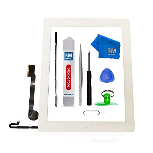 MMOBIEL Digitizer Compatible with iPad 4 (White) 9.7 Inch Touchscreen Front Display Assembly Incl Tool kit