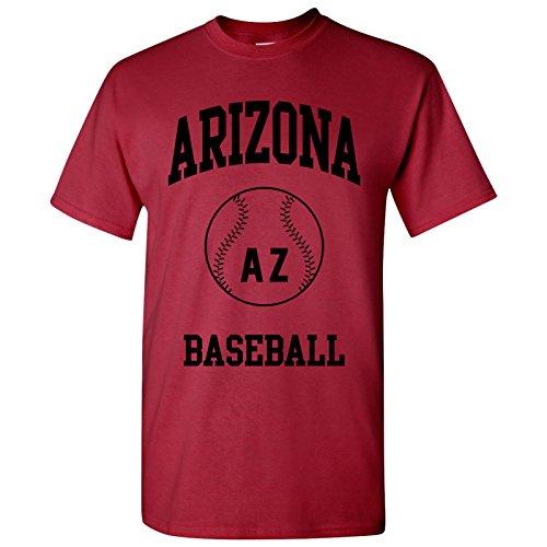 Arizona Cardinals Pitcher (Arizona Classic Baseball Arch - Stadium, Jersey Team Sports, Batter, Pitcher T-Shirt - Large - Cardinal)