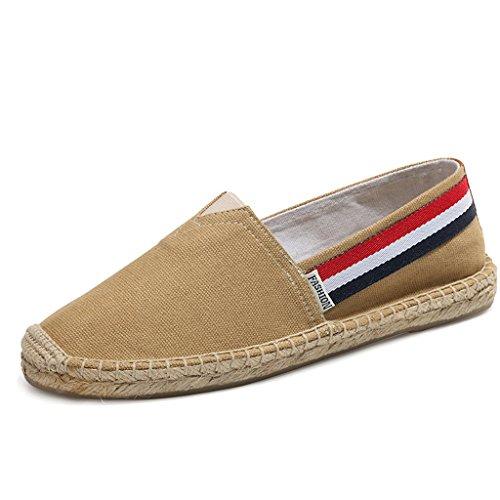 LaRosa Women's Sneaker Casual Fashion Loafer Slip-On Espadrille Flat Canvas Shoes (Espadrilles Canvas Beige)