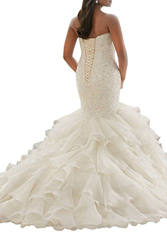 La_mia Brau Hochwertig Spitze Traeger Abendkleider Hochzeitskleider Standsamt Kleider Brautmode Ballkleider Lang Hell Gruen 0efTKQ
