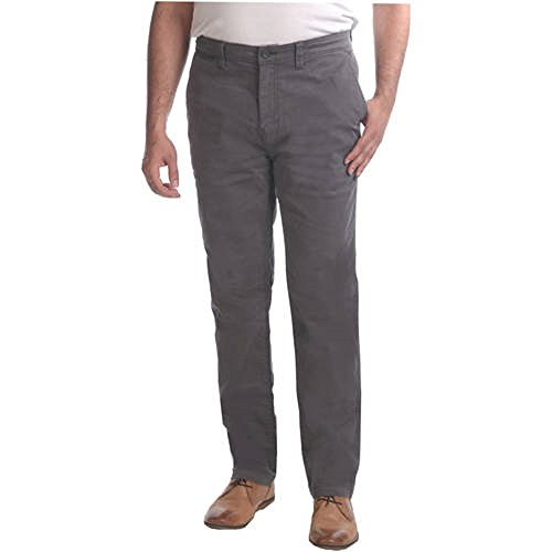 Faded Glory Men's Chino Flat Front Straight Pants (38x32, Grey) from Faded Glory