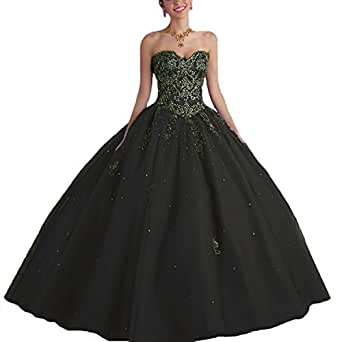 Amazon.com: Lisa Sweetheart Long Puffy Quinceanera Dress
