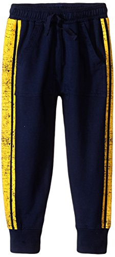 Wes Boys And Willy Pants (Wes & Willy Boys' Toddler Striped Ft Pant with Cuff, Midnight, 3T)