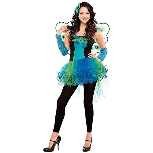 Peacock Teen Costumes (S Teen Peacock Diva Costume for Bird Fancy Dress Outfit by Amscan)