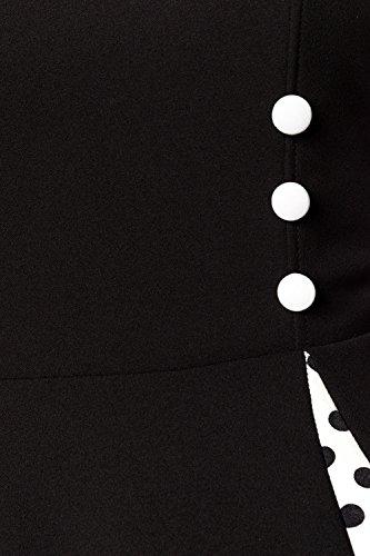 Vintage Style Schwarz mit Bolero im Belsira Weiß Kleid Retro Damen 8qwxP0A5