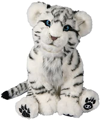 WowWee Alive White Tiger Cub Plush Robotic Toy in White/Black