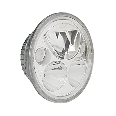 "Vision X Lighting (XMC-575RD) 5.75"" Round Vortex Motorcycle LED Headlight w/ Low-High-Halo, Single Light, Polished Chrome Face"
