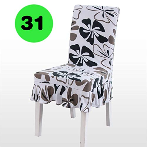 1PC Stretch Spandex Dining Room Wedding Banquet European Floral Print Pattern Chair Cover Decor Washable Slipcover DSN 31 1PC Chair Cover