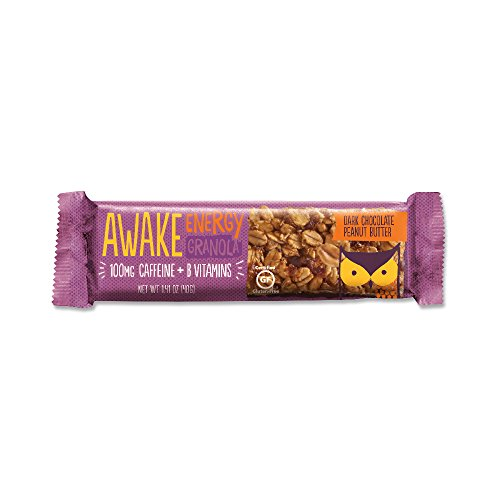 Awake Caffeinated Energy Granola Bar, Dark Chocolate Peanut Butter, 16 Count
