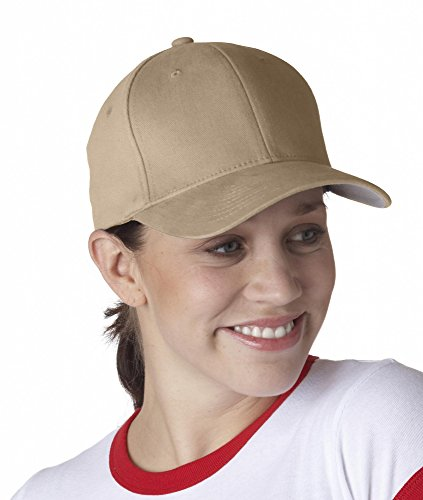 (Yupoong Flexfit? Brushed Twill Cap (S/M/Khaki))