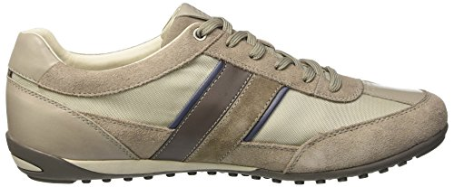 Geox Men U Wells C Low-Top Sneakers Beige (Rock/Papyrusc5y1s) TFbMQ8U6SR