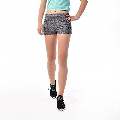 corto estate M donna fitness black yoga grey Pants nero Hot cintura Hippolo pantaloncini sportivi 1qg6B