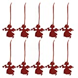 10Pcs Christmas Tree Hanging Ornaments Gifts Fabric Pendant Party Decorations