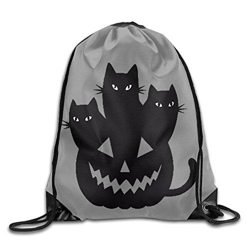 Dallas Cowboys Halloween Pumpkin (Sokie Halloween Cat Gym Drawstring Backpack/Travel Bag)