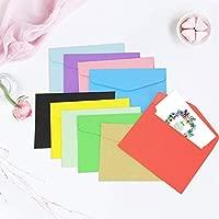 Kbnian 100 Piezas Mini Sobres de Papel, Sobres Personalizados, 10 Colores para Tarjetas de Felicitación e Invitación de Fiestas, Cumpleaños, 11.5 * ...