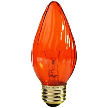 Ge Lighting 75339 Amber 25 Watt 120 Lumen Flame Tip Light