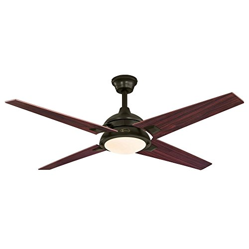 Westinghouse 7207400 Desoto 52-Inch Oil Rubbed Bronze Indoor Ceiling Fan, LED Light Kit with Opal Frosted Glass -