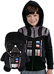 Cubcoats Star Wars Darth Vader - Transforming 2-in-1 Classic Zip-Up Hoodie & Plushie - Black