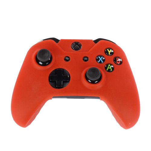 Nfl Pad Xbox (TNP Xbox One Controller Case (Red) - Soft Silicone Gel Rubber Grip Case Protective Cover Skin for Xbox One Wireless Game Gaming Gamepad Controllers [Xbox One])