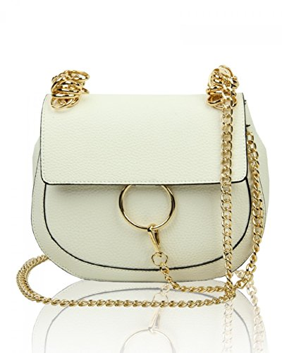 LeahWard Women's Chic Cute Cross Body Bag Nice Great Brand Across Body Handbag White 24.5x16x12 Cm