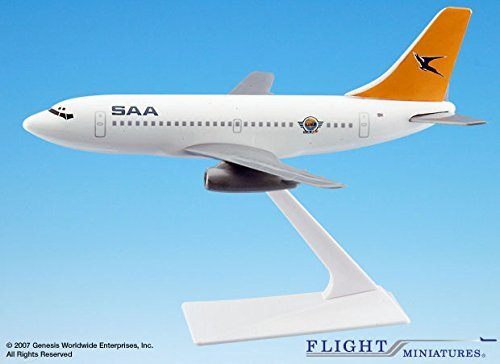 Airlines 200 African South - Flight Miniatures South African Cargo Boeing 737-200 1/180 Scale Old Colors Display Model