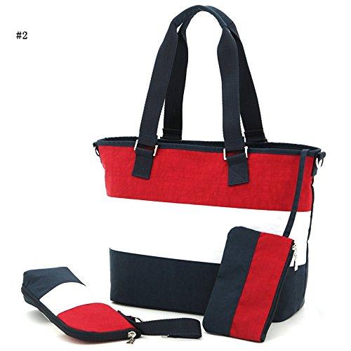 Global- Moda extraña de viaje esencial multifunción mochila, poliéster de gran capacidad paquete de la momia, mujeres embarazadas multifunción Salir mochila ( Color : # 6 ) # 2