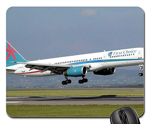 Mouse Pads - Airplane Takeoff B757 Aircraft Aviation Commercial