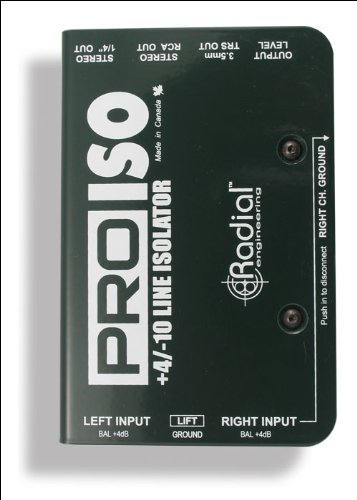 Radial Engineering PRO ISO Stereo Line Isolator +4dB to -10dB with Radial Transformer ()