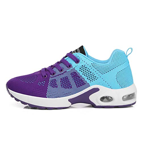 ANJUNIE Women Lightweight Sneakers Mesh Outdoor Sport Shoes Runing Lace-Up Shoes