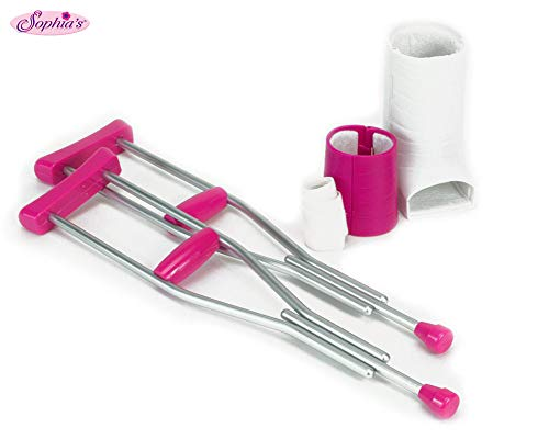 Sophia's Doll Crutches, Cast & Accessory Set for 18″ Dolls, Doll Casts, Crutches & Bandage