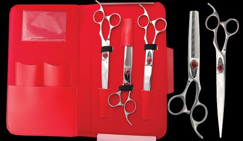 Kenchii Spider Grooming Scissors Set of 3 LEFTY