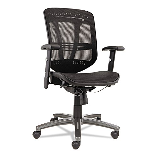 Alera EN4218 Eon Series Multifunction Wire Mechanism, Mid-Back Suspension Mesh Chair, Black