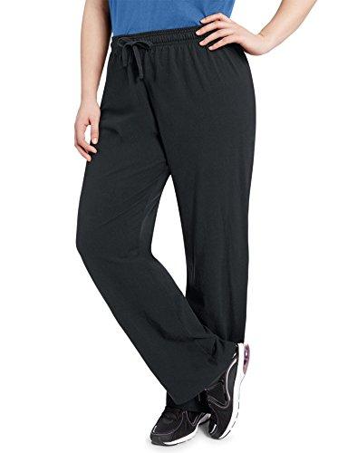 - Champion Women`s Plus Jersey Pants, QM1243, 2X, Black