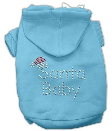 Mirage Pet Products 18-Inch Santa Baby Hoodies, XX-Large, Baby Blue