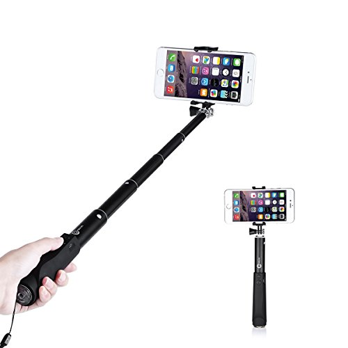 Selfie Stick , OMBAR 38.18 inch Skidproof Universal Steady Bluetooth Selfie Stick monopod with Built-in Remote Shutter for iPhone SE/6S/6S Plus/6/6 Plus/5S/ GalaxyS7/ Galaxy S7 Edge/ Nexus 6p/ LG G5 and More