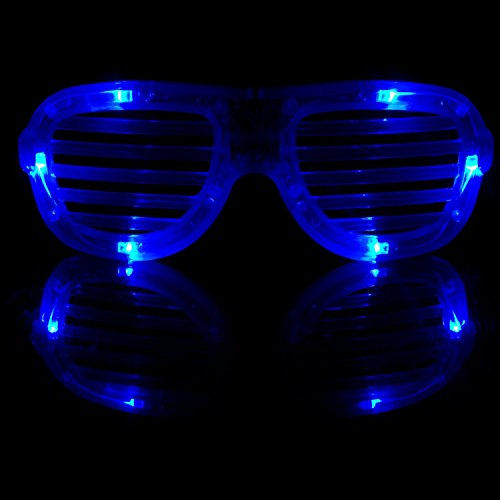 Fun Central R375 LED Light Up Slotted Shades - - Glowing Shutter Shades
