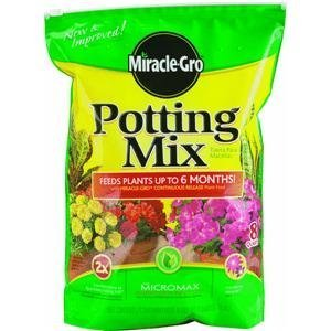 Scotts Soil Potting (Miracle Gro 75678300 8 Qt Potting Mix 0.21-0.11-0.16)