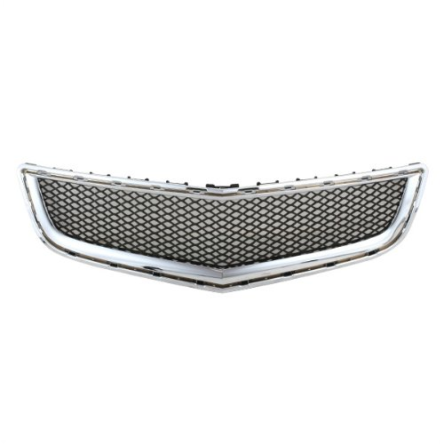 CarPartsDepot 363-15107-10 CHROME GRAY MESH FRONT BUMPER LOWER GRILLE GM1036120 GM1036120 20756061